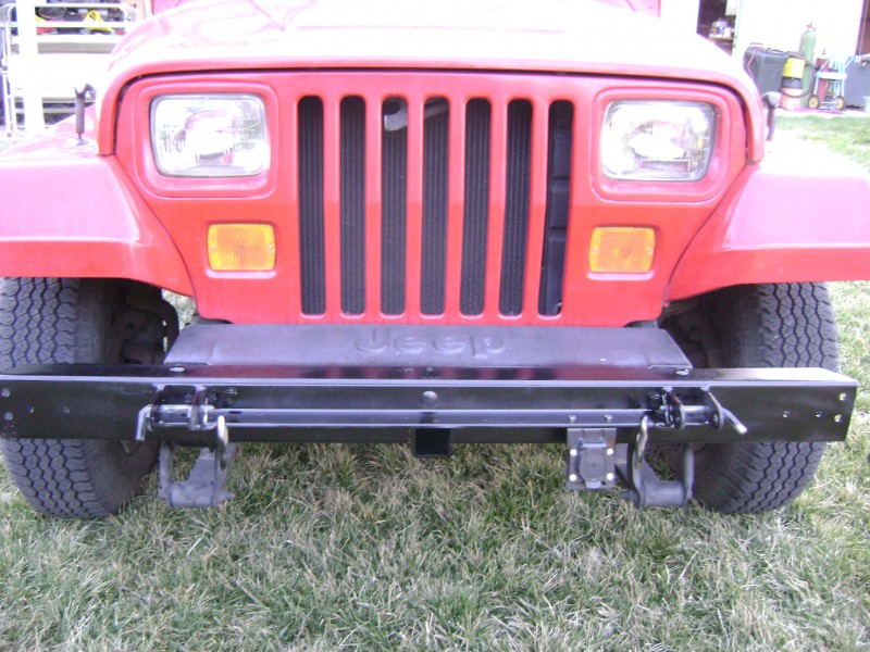 Jeep front bumper hitch receiver