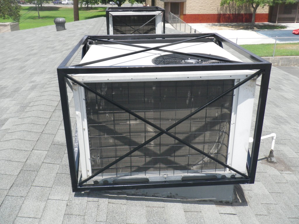 air conditioner security cage x-grid