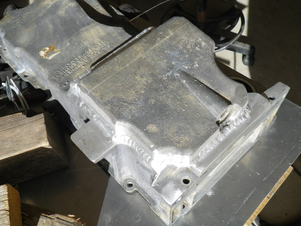 Aluminum oil pan modification