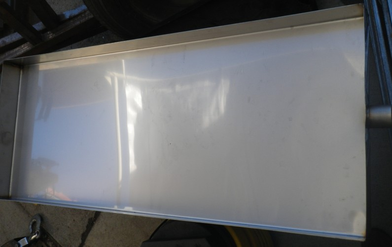 Stainless steel drip pan for commercial air conditioner