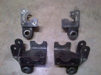 Suzuki frame reinforcement and spring shackles