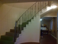 Indoor stair hand railing