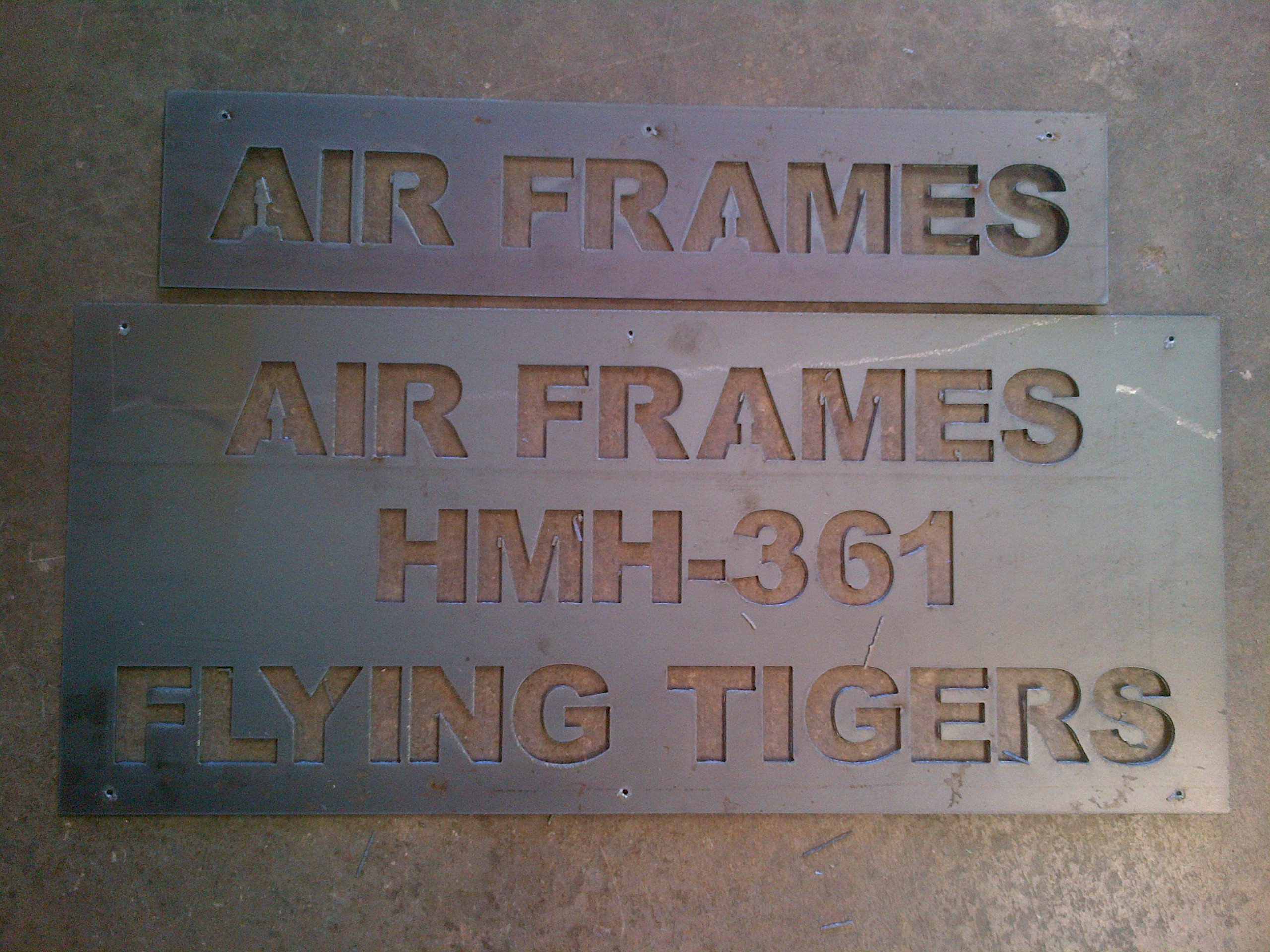 metal sign jb fabrication and welding With plasma cut letters