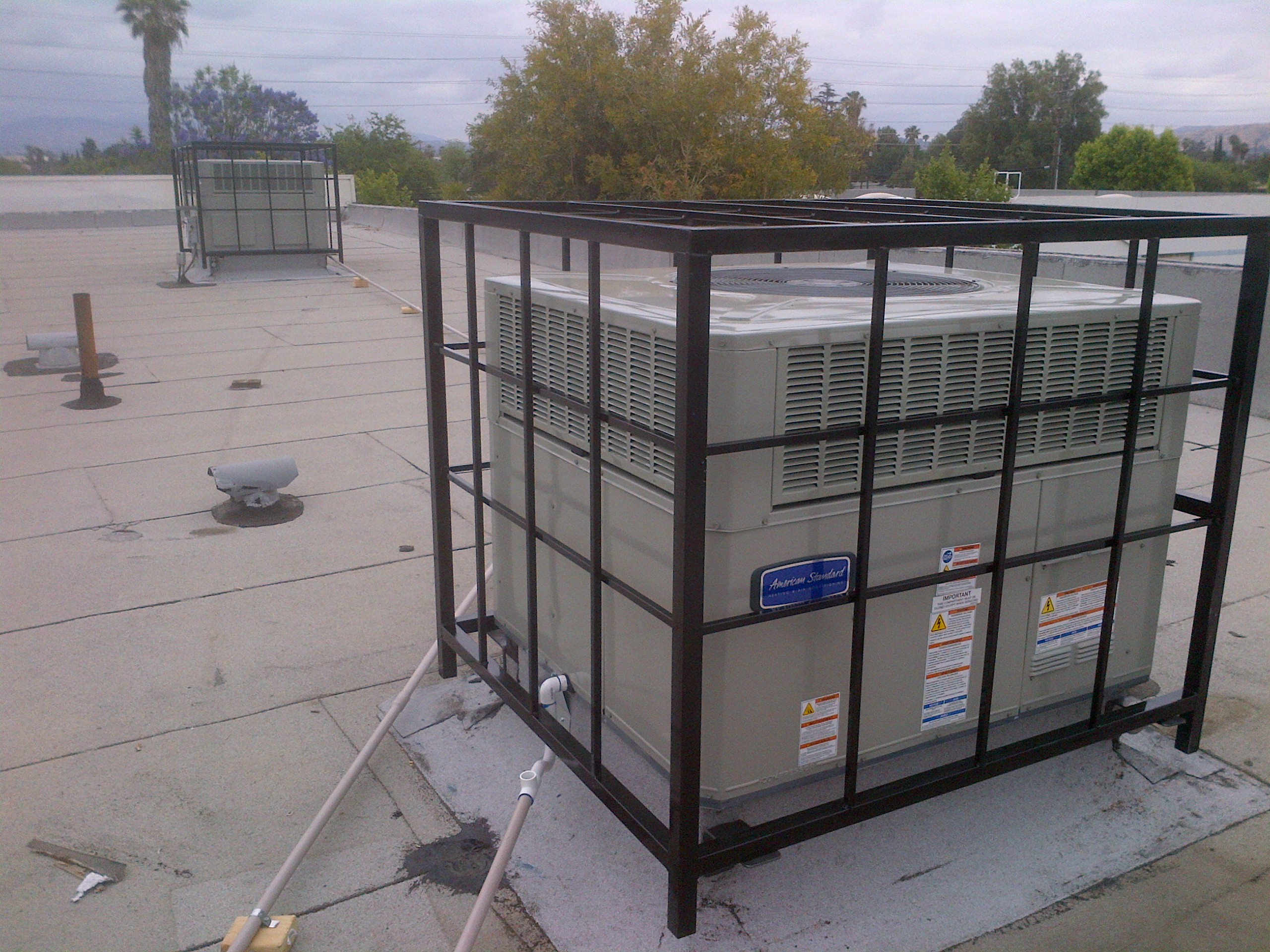 Air conditioner security cage jb fabrication and welding