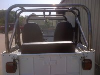 Willy's jeep rear roll cage back