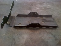 Willy's jeep skid plate with cross member side