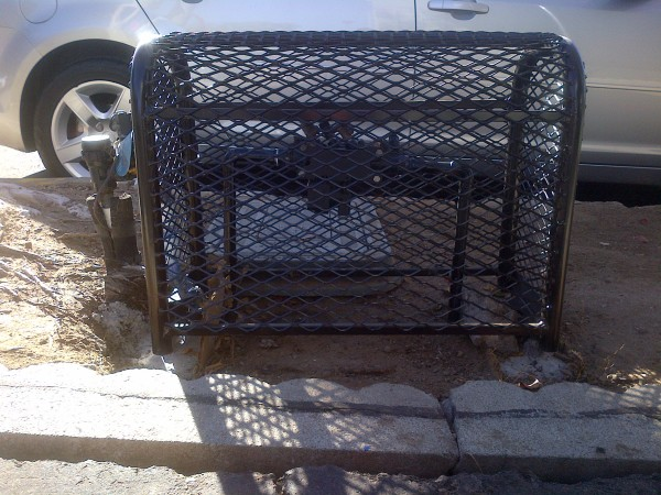 Back flow security cage
