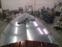Keel tack welded inplace