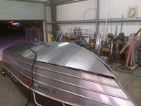 Fitting hull plates