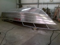 Hull welded in place