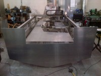 Valco 21 transom cut out on Cnc plasma table