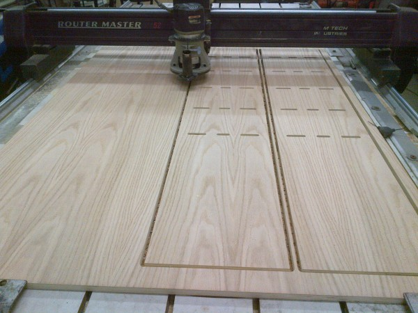 cnc routing wood panel