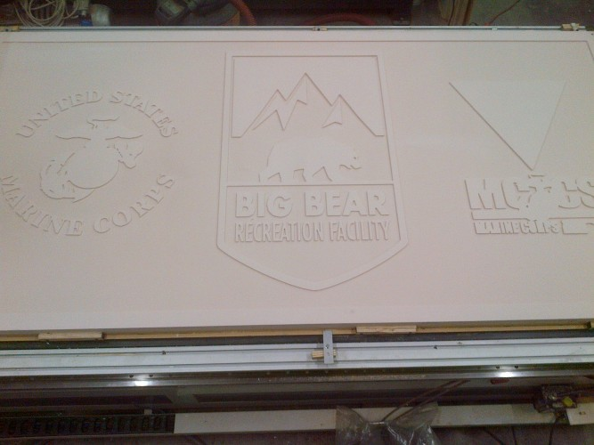 cnc routing of sign foam