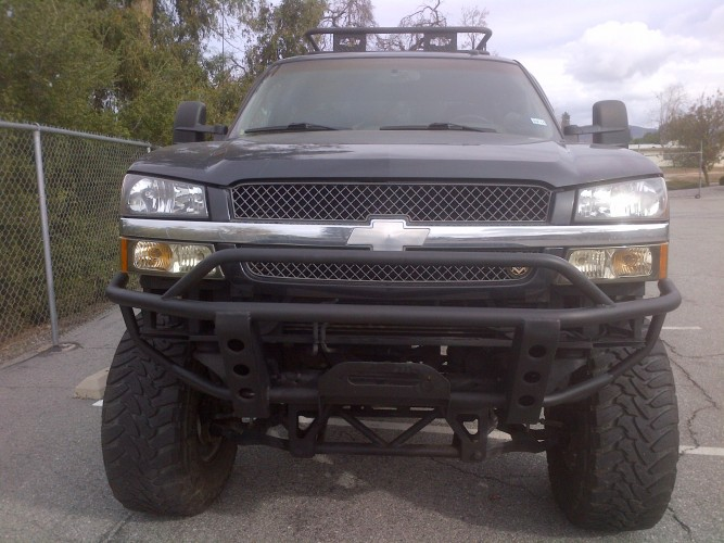 chevy prerunner bumper with winch