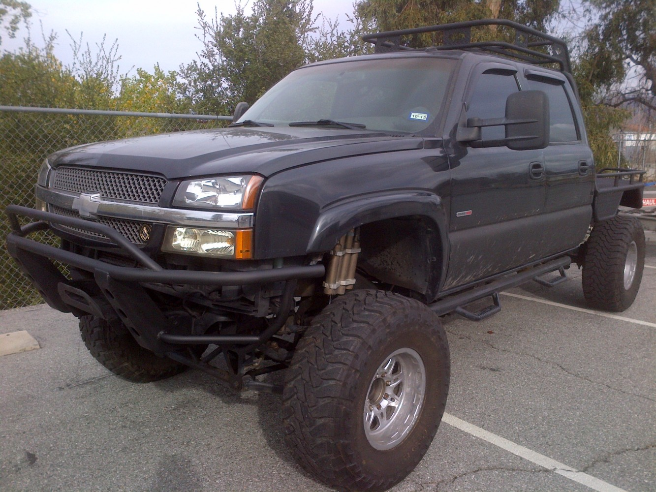 chevy tubular bumper with winch